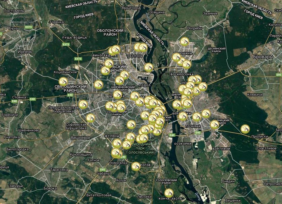 У Києві створили інтерактивну мапу локацій, на яких можна буде висадити дерева
