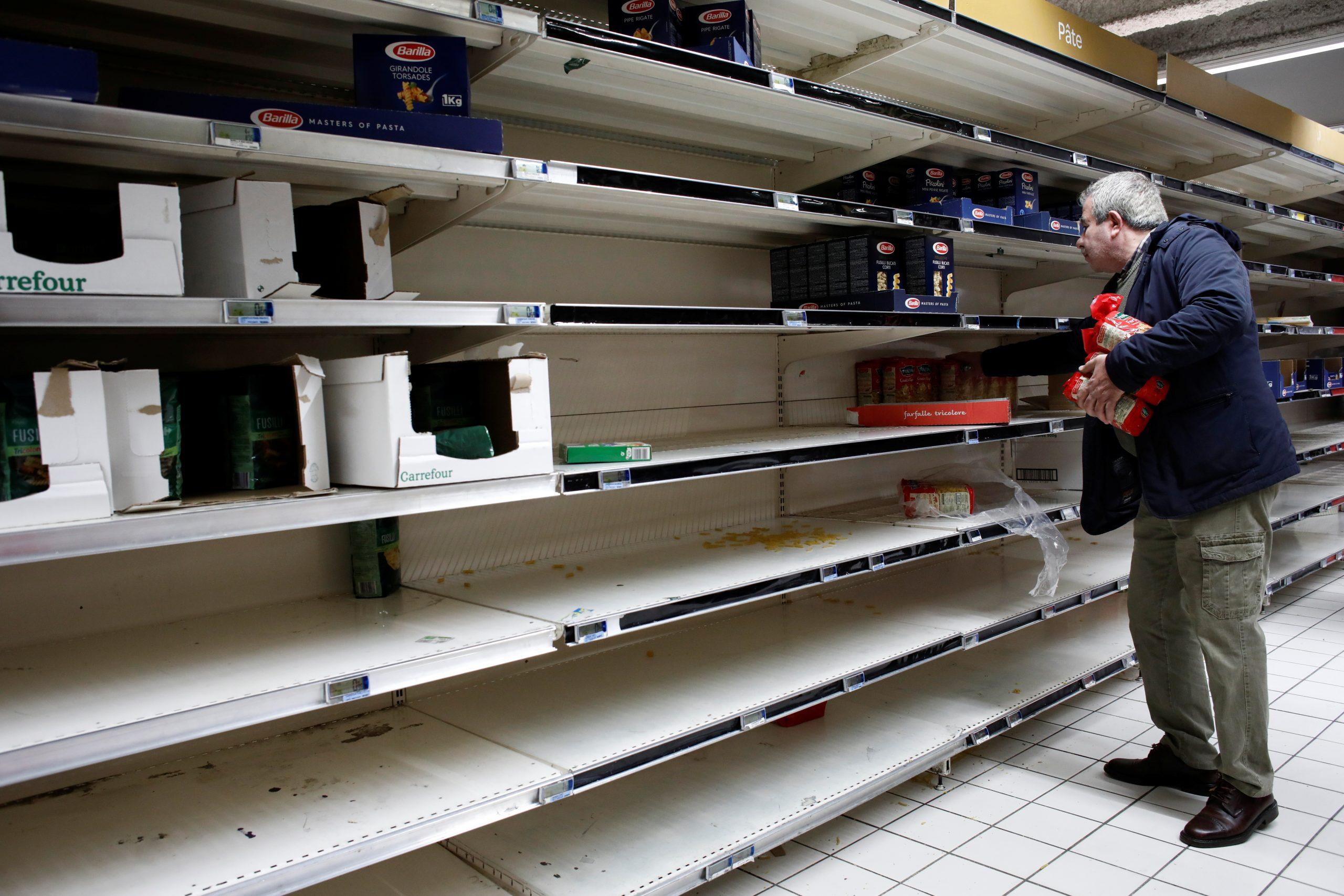 Париж Франція коронавірус супермаркет