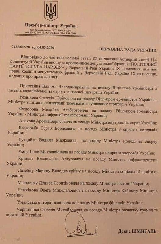 Уряд Шмигаля