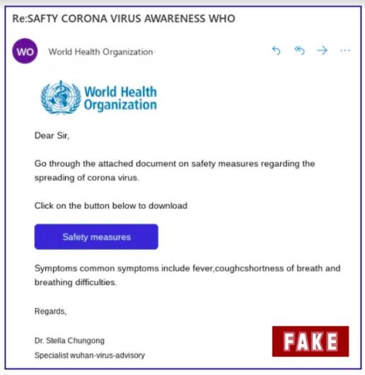 короновірус фальшивий лист