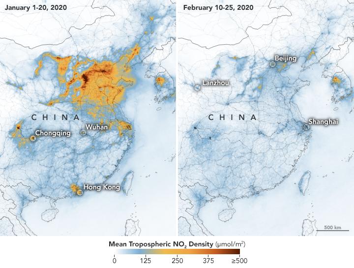 У Китаї через коронавірус скоротилась кількість шкідливих викидів