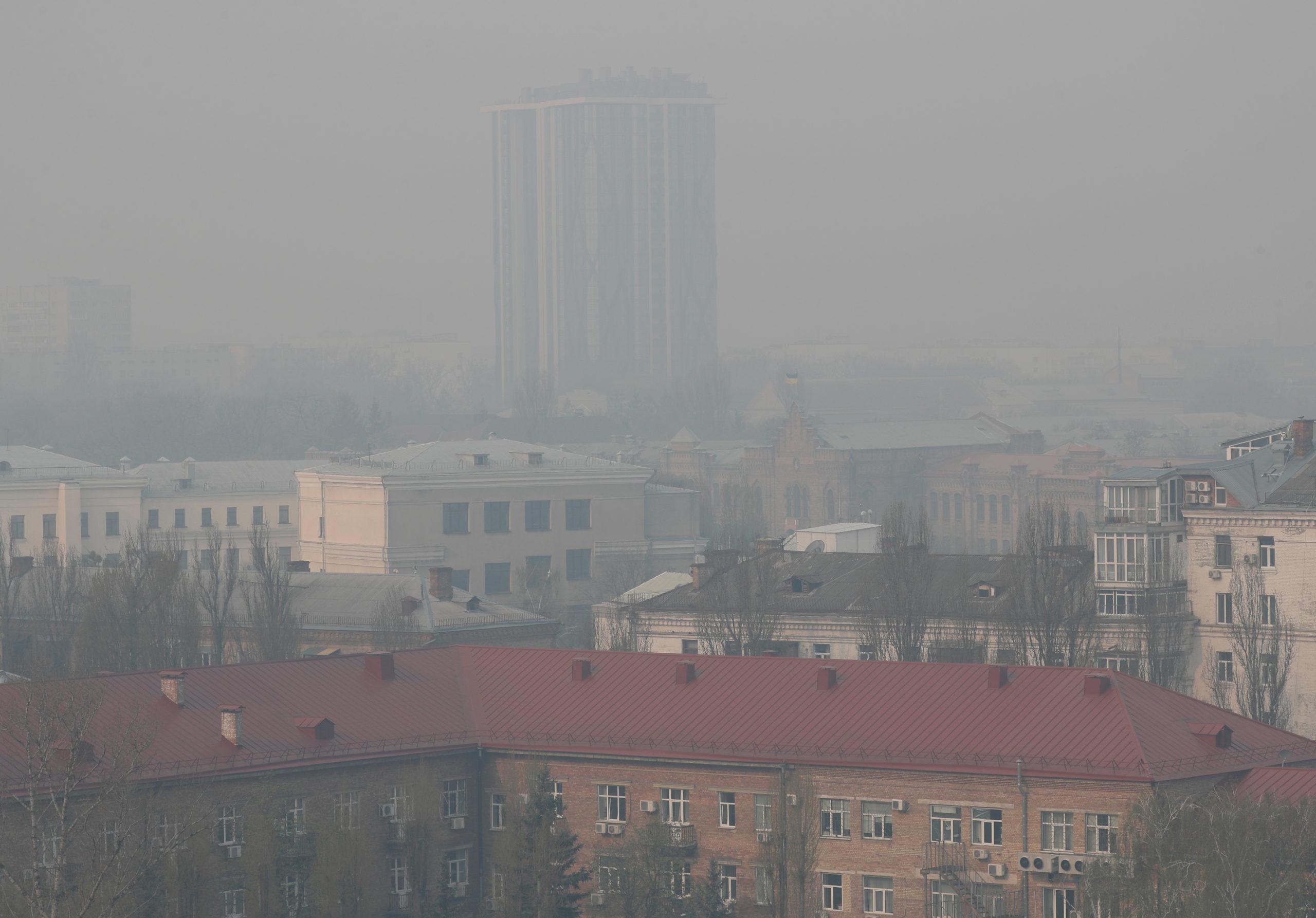забруднене повітря київ