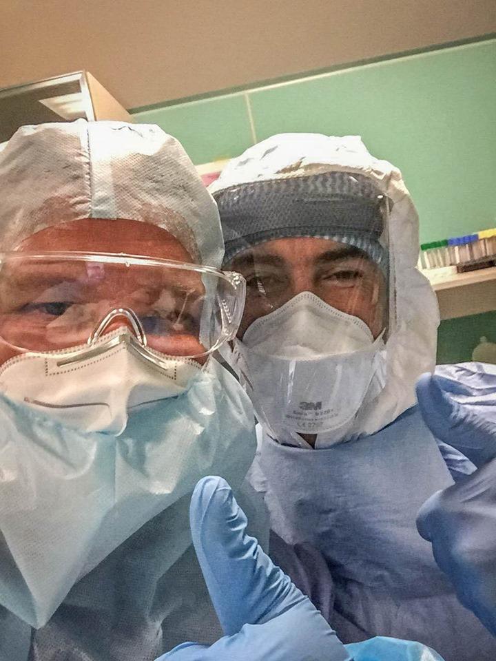 Український лікар Юрій Сак в Італії