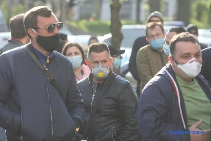 Під Кабміном протестують підприємці проти карантину