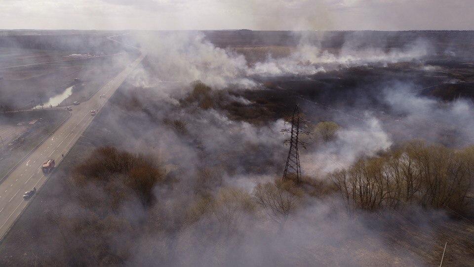 горіння трави