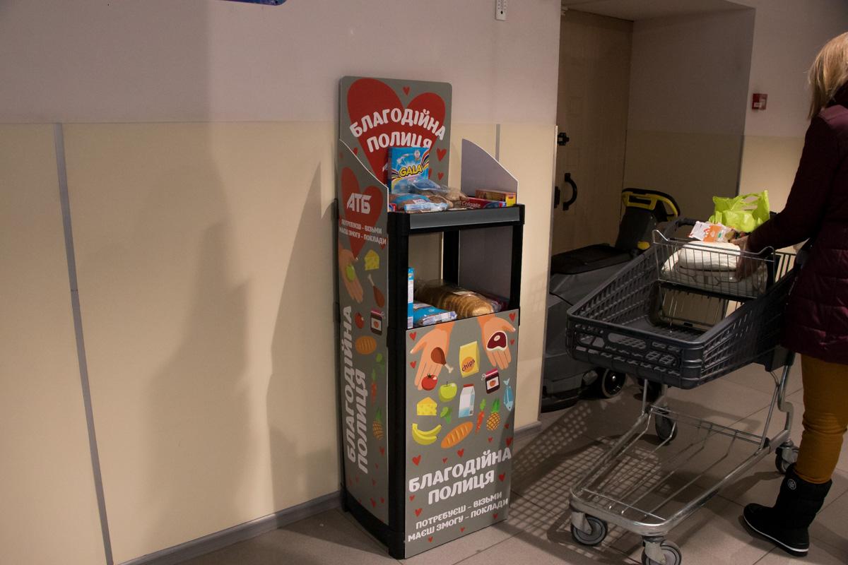 благодійні полиці атб супермаркет