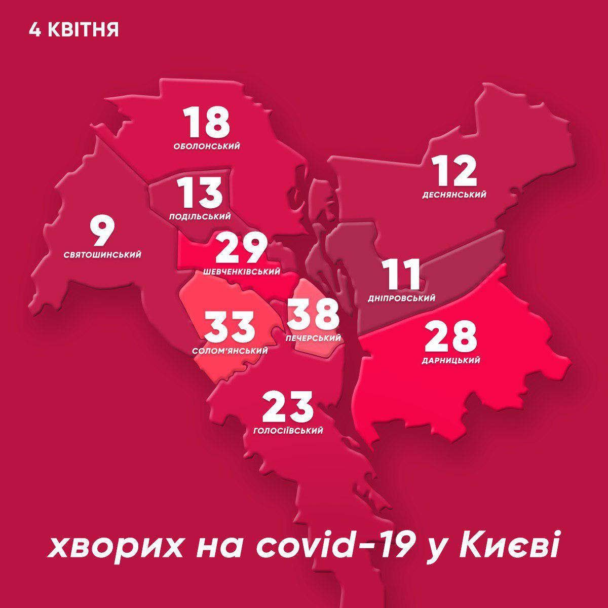 Як змінилась мапа захворювання в Києві