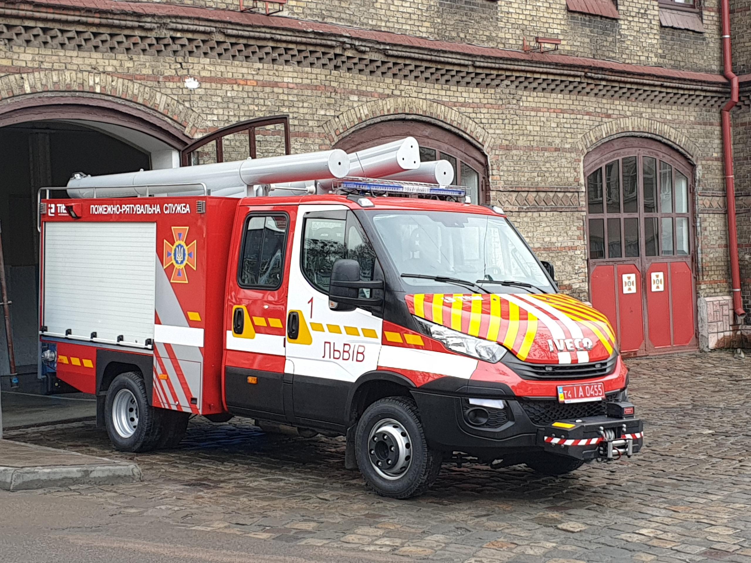 надшвидкий пожежний автомобіль