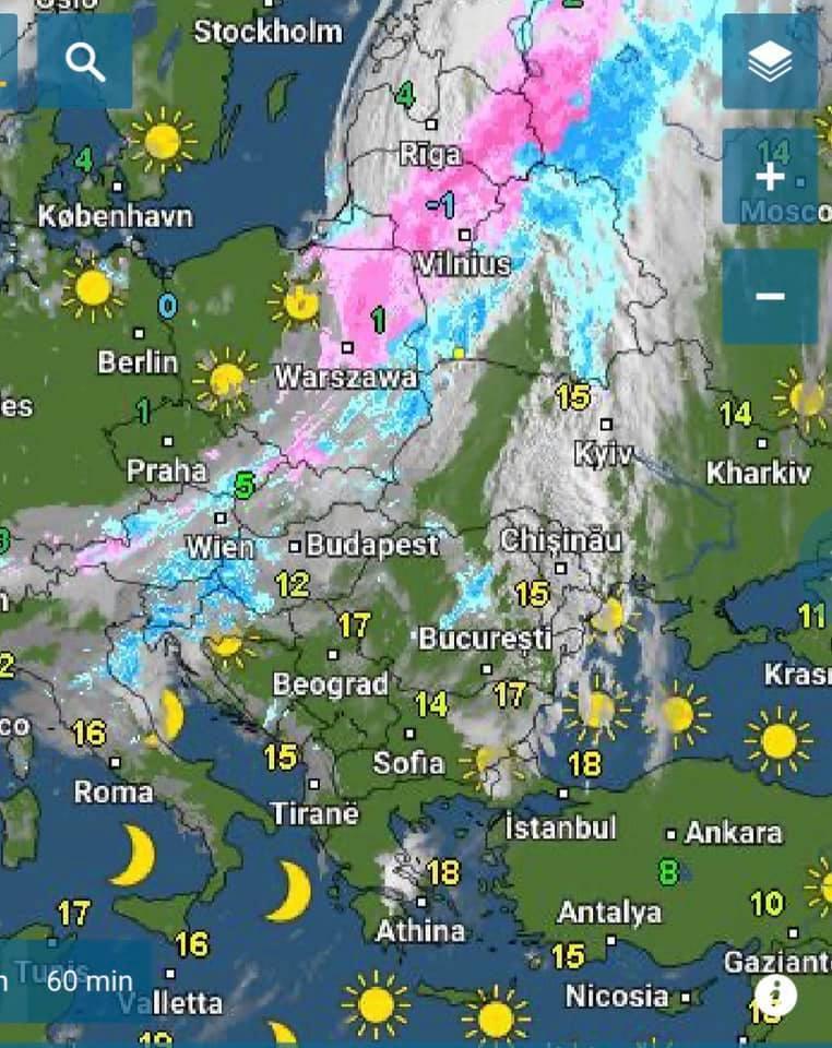Європу раптово засипало снігом