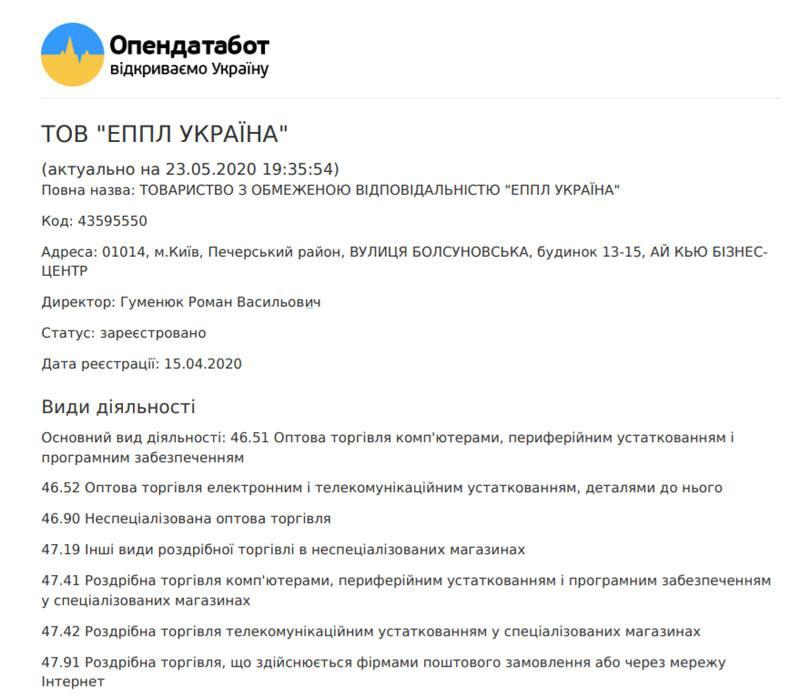 Apple відкриє представництво в Україні