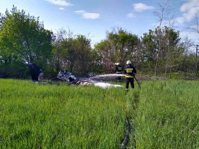 На Дніпропетровщині впав літак: двоє загиблих