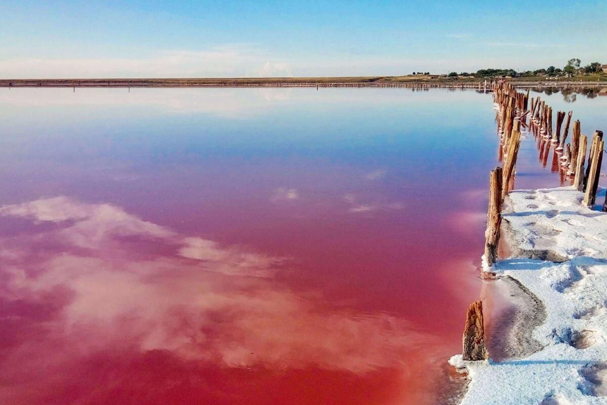 Рожеве озеро Херсонщина