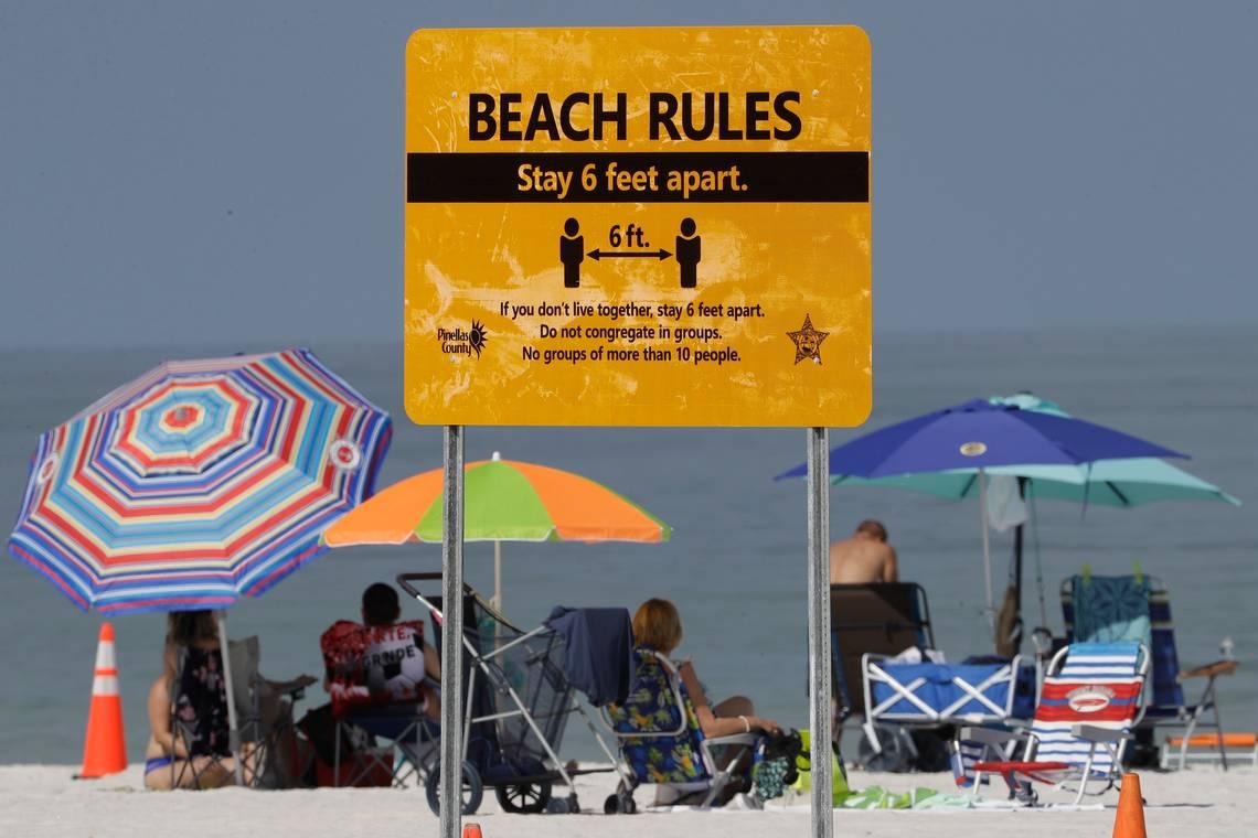 отдых на пляже и коронавирус