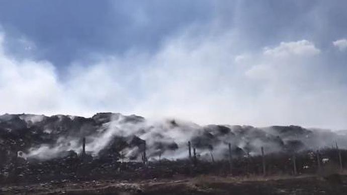 У Сєверодонецьку горить сміттєвий полігон
