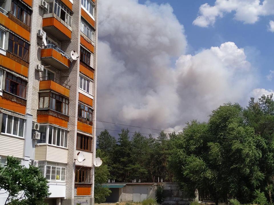 в Луганській області вирує лісова пожежа