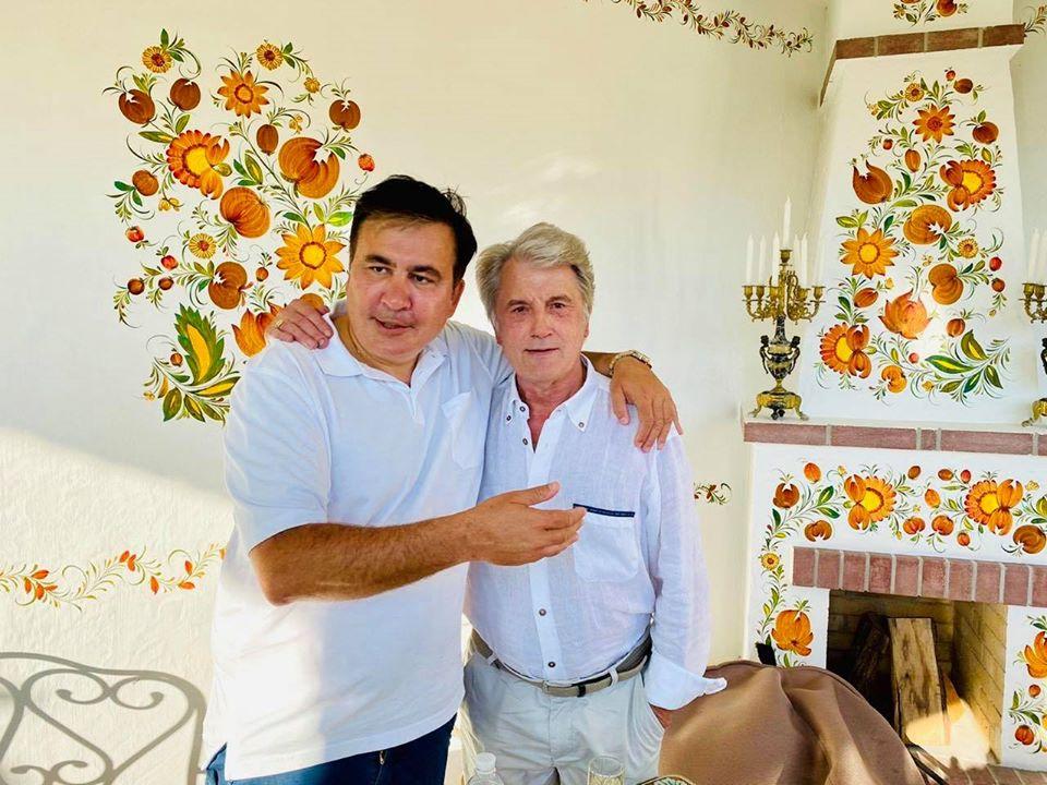 Саакашвілі опублікував фото з Ющенком