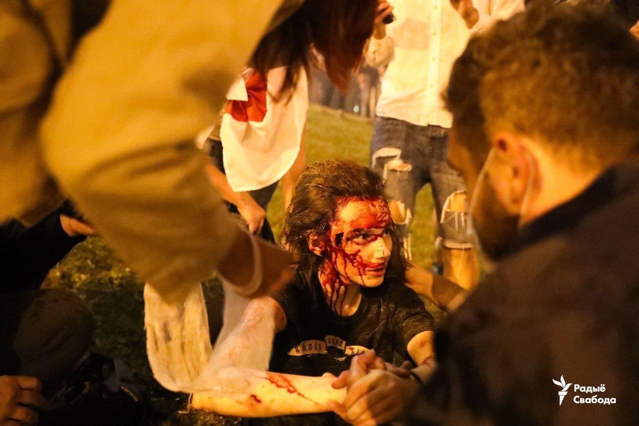 Протести в Мінську Білорусь