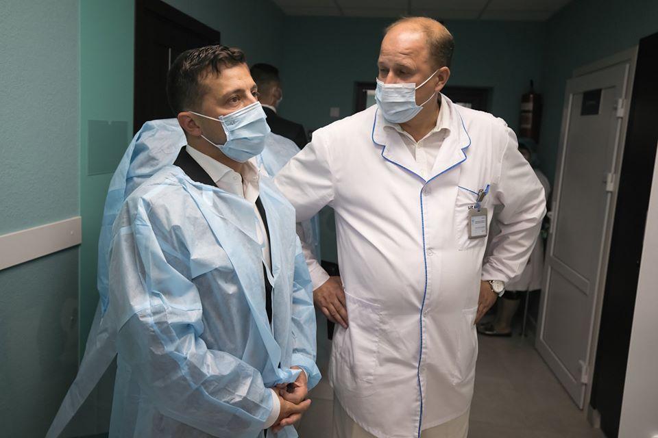 Зеленський відвідав лікарню в Борисполі