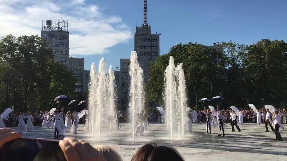 У Харкові відкрили найбільший сухий фонтан в Україні