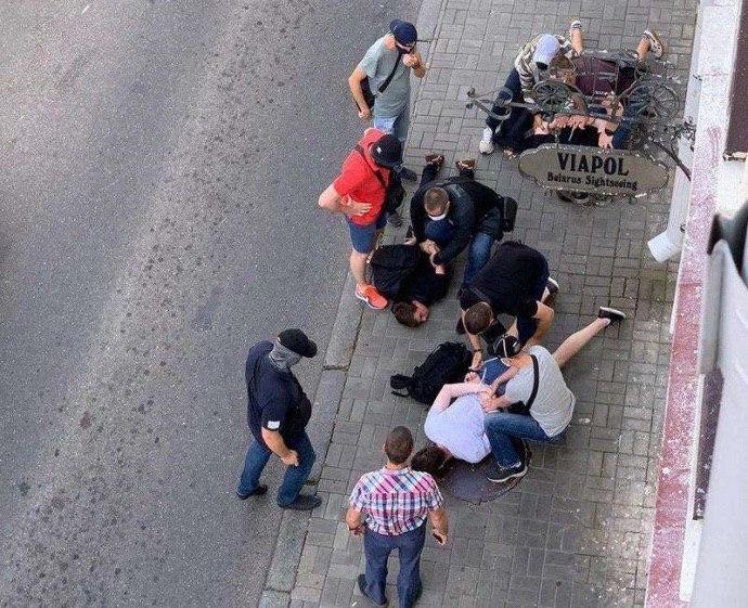 у Мінську силовики затримали знімальну групу російського телеканалу