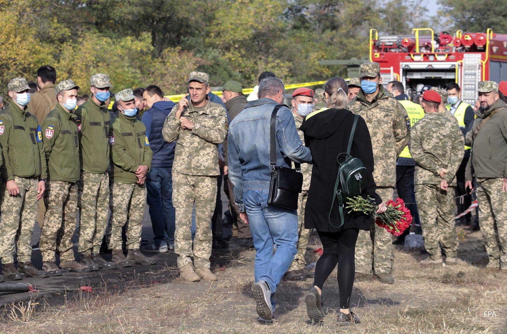місце падіння Ан-26 під Чугуєвом