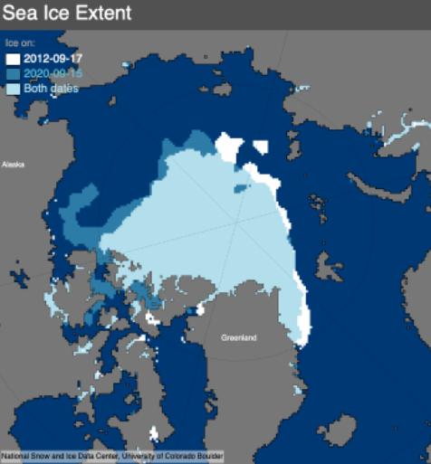 У Північному Льодовитому океані рекордно розтанув лід