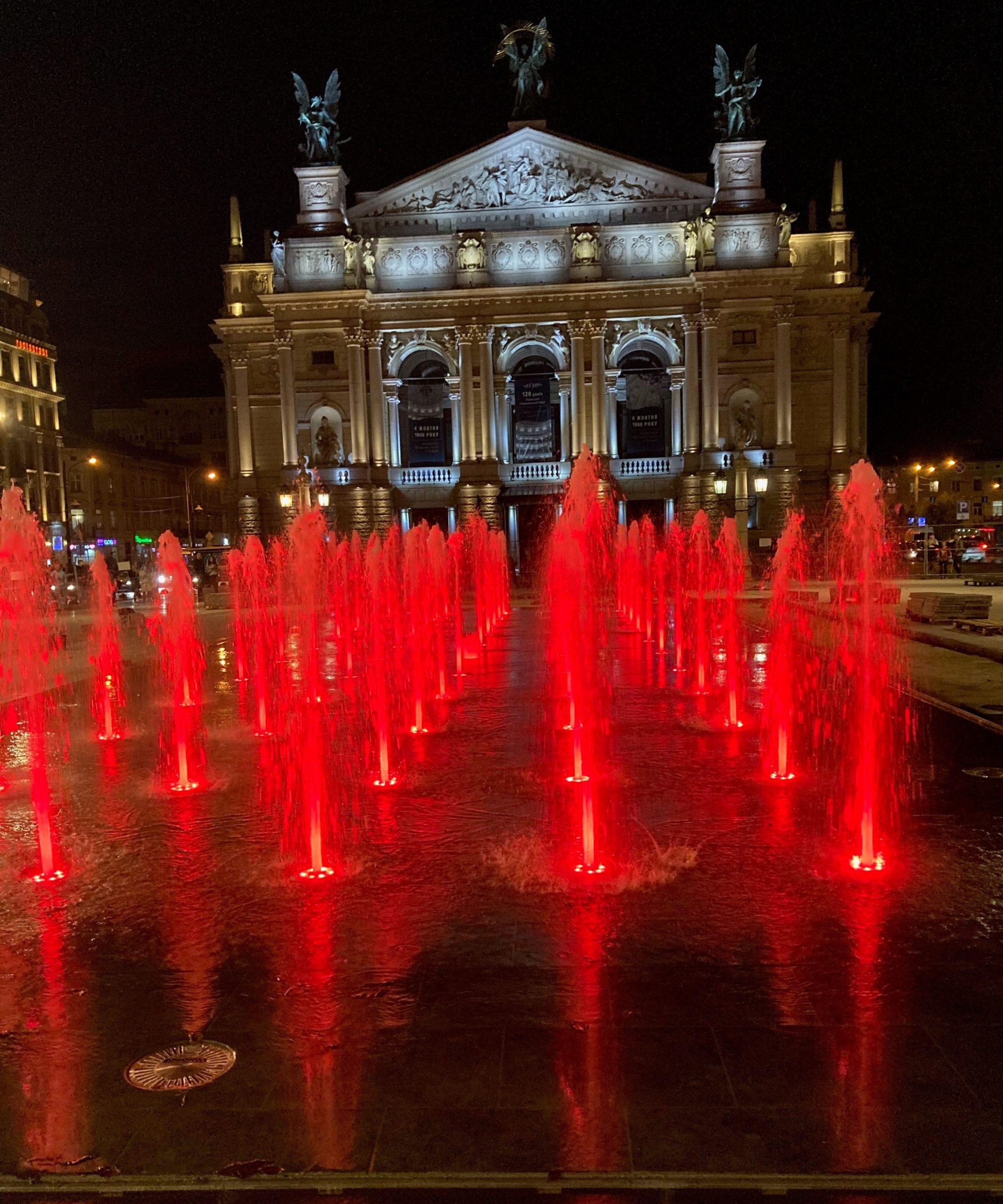 львів сухий фонтан перед оперою