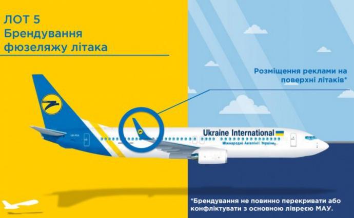 В МАУ анонсували продаж реклами на фюзеляжах своїх літаків