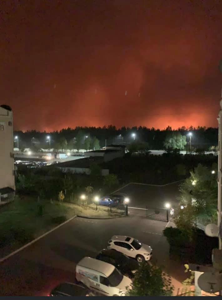 На Луганщині знову масштабні пожежі