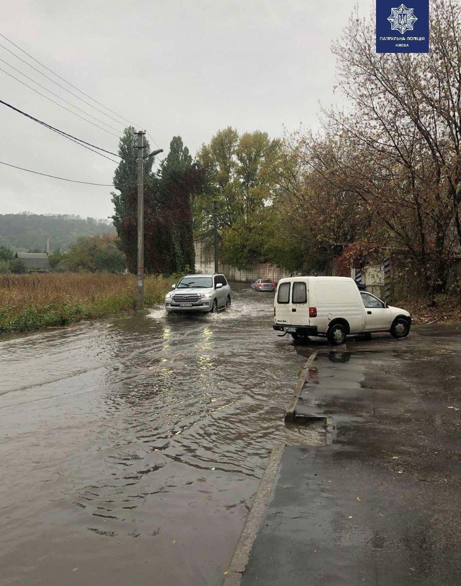 Потужна злива у Києві