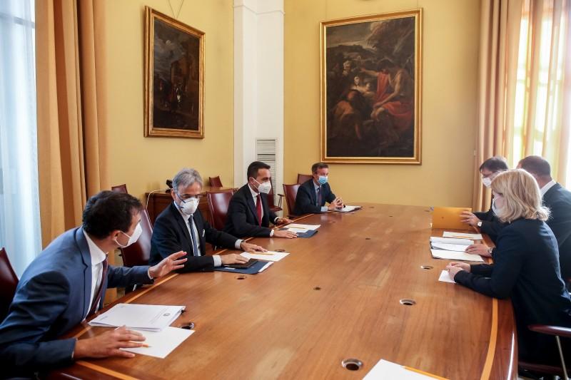 Ольга Стефанішина та Андрій Єрмак у Римі зустрілися з главою МЗС Італії