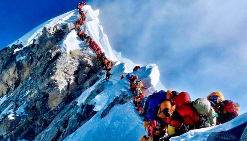Mt. Everest emptied