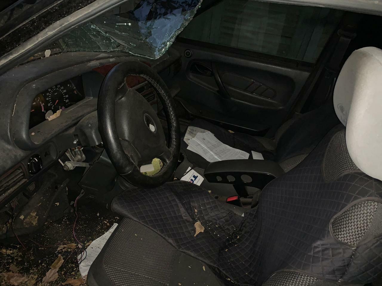 У Лисичанську понівечили автомобіль директора