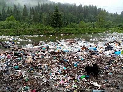 У Чернівецькій області в гірських селах утворилося масштабне сміттєзвалище на березі річки Сучава: фото