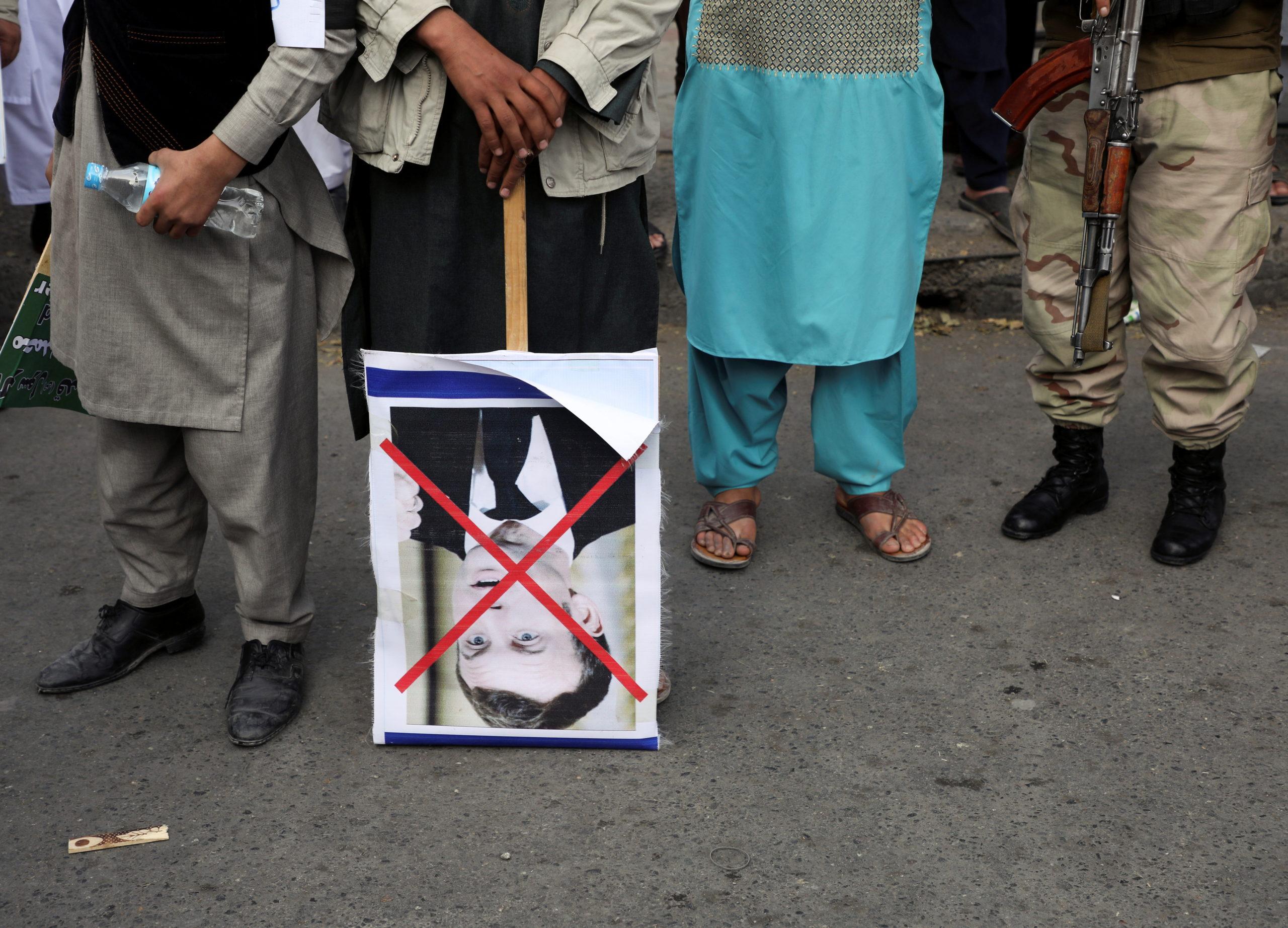 протест мусульман против Макрона