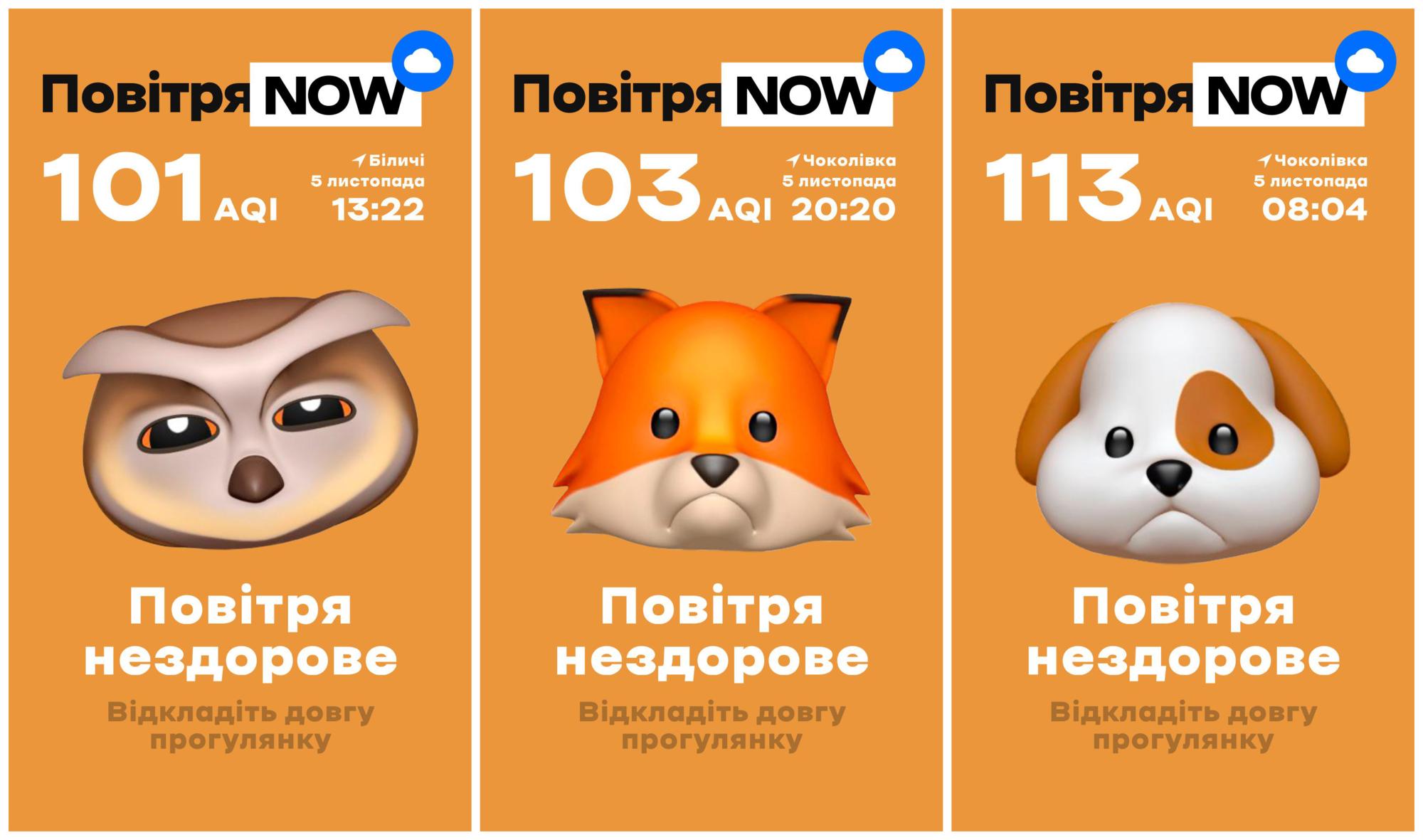 Київський сервіс з моніторінгу якості повітря тепер оновлюються щохвилинно