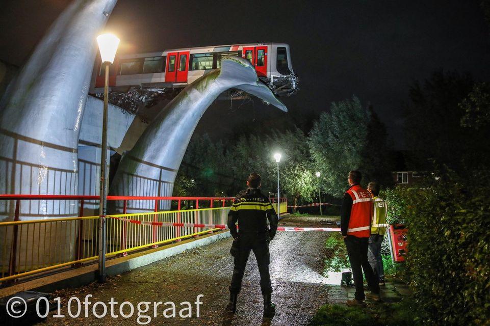 Роттердам метро De Akkers
