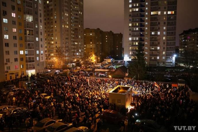 Протести у Мінську через вбивство Бондаренка