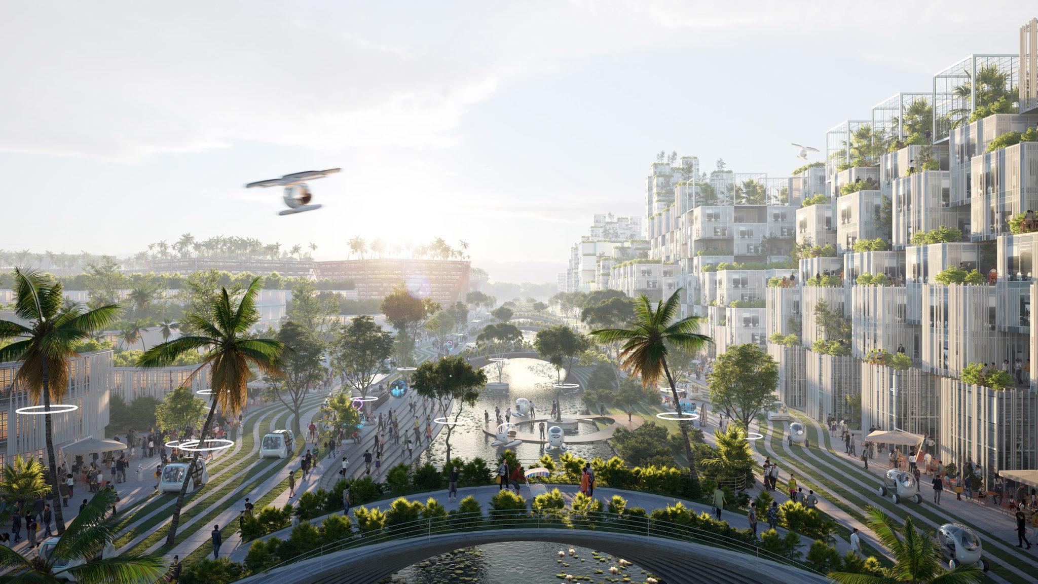 У Малайзії побудують екологічне місто на трьох штучних островах: фото