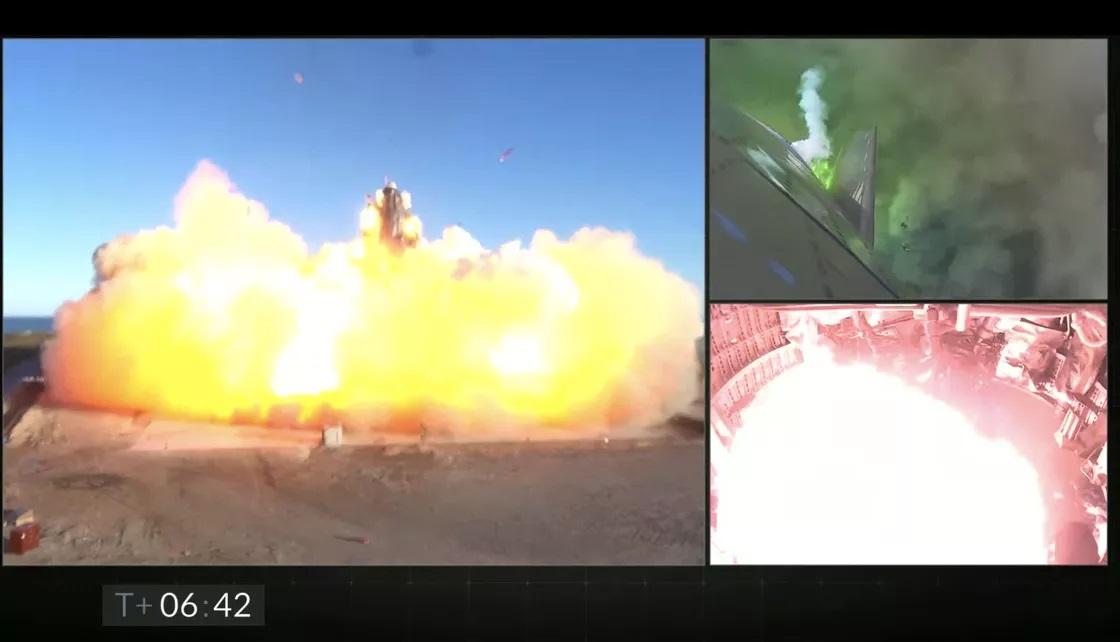 Запуск Starship: корабель піднявся на найбільшу висоту — 12 км, але вибухнув під час приземлення