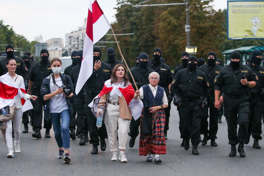 protestors in Belarus