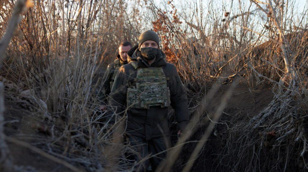 Зеленський на Донбасі в ООС в грудні