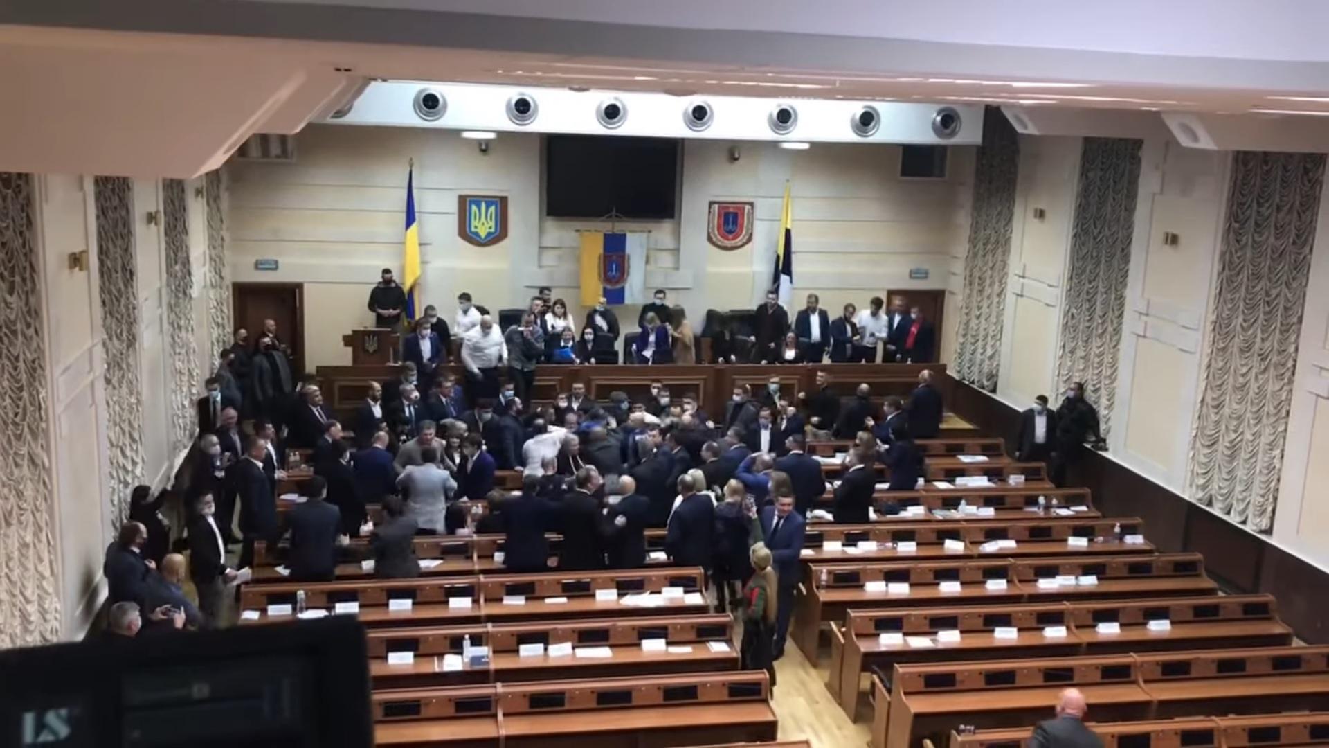 В Одеській обласній раді сталася бійка