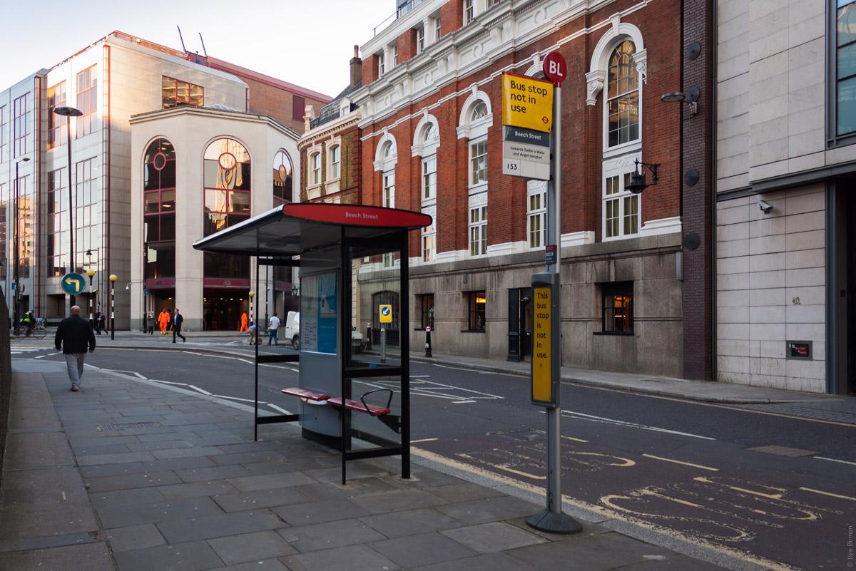остановки в лондоне