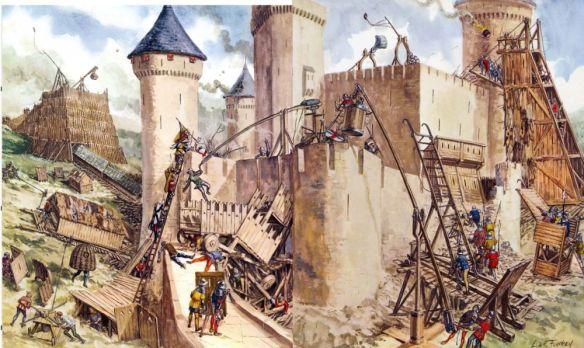 середньовічний штурм замку