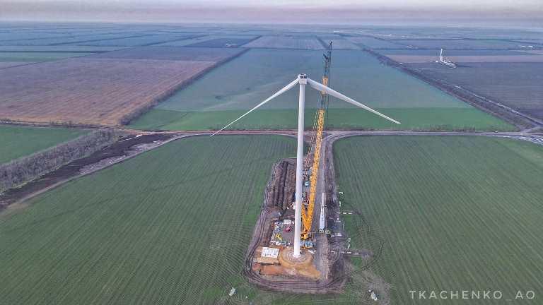 На Одещині будують вітропарк: фото