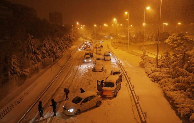 Сніг у Мадриді