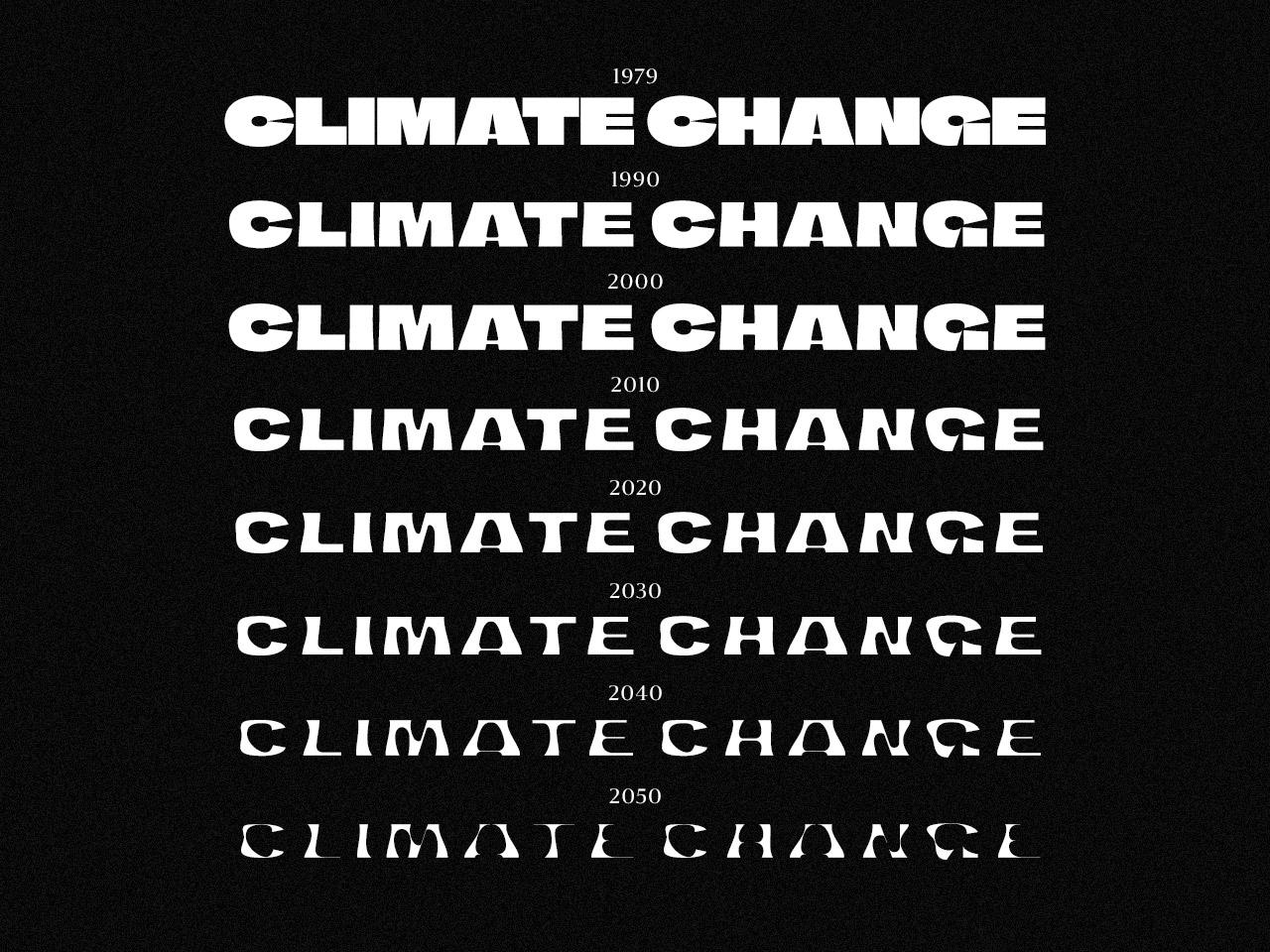 У Фінляндії створили шрифт, товщина літер якого показує темпи глобального потепління