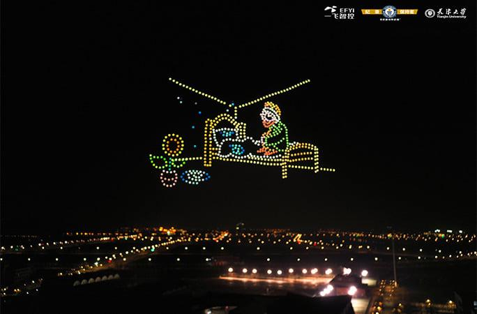Світовий рекорд: у Китаї відбулось шоу дронів на честь Вінсента Ван Гога