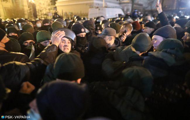 Протести на підтримку Стерненка: затримано 17 людей, є постраждалий